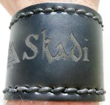 Skadi Valknut Viking Leather Wristband