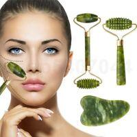 Jade Stone Facial Massage Roller Gua Sha Scraper Beauty Tool Face Body Neck