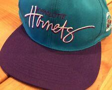 NEW! CHARLOTTE HORNETS NBA LICENSED CAP HAT 2-TONE SCRIPT SNAPBACK FLAT BRIM