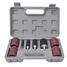 Sanding Drum & Sleeves Set Kit Metal Wood Polishing Woodworking Tool 80 120 Gr