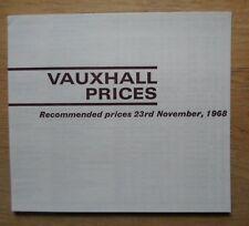 VAUXHALL RANGE orig 1968-11 UK Mkt prices brochure - Viva GT Ventora Viscount