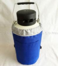 New 6l Liquid Nitrogen Tank Cryogenic Container Ln2 Dewar6pcs Pailslock Cover