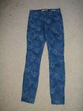 GUESS RISED FLOWER PATTERN LOW RISE SKINNY JEANS DENIM BRITLEY LEGGING 27