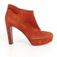 KENNEL & SCHMENGER Damen Schuhe Ankle Boots Kupfer Rost Gr