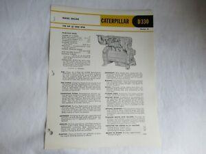 1960 CAT Caterpillar D330 engine series A specification sheet  brochure