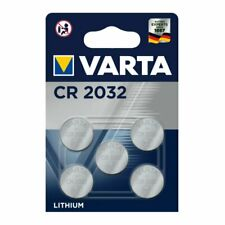 Varta CR2032 piles boutons CR2032 lithium 3v lot de 5 piles boutons pile plate