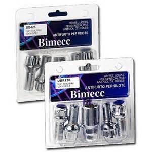 BIMECC Peugeot Extended Locking Wheel Bolts Thread Length 40mm M12x1.25 60D Tap