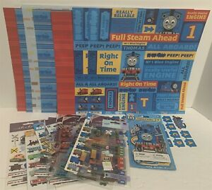 THOMAS THE TRAIN Scrapbook Papers Album Die Cuts Engine Stickers 12x12 Lot