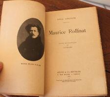 1921 Maurice Rollinat étude Biographique et Littéraire Vinchon EO Poète Poésie