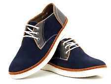 Mens Casual Lace Up Canvas Shoes JAS Fashion Suede Trainers Black Smart Size UK