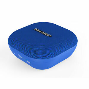 Sharp GX-BT60(BL) Blue 6W Splashproof Rechargeable Portable Bluetooth Speaker