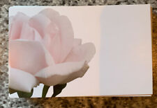 Pink Rose Blank Florist Message Cards x 50 Brand New