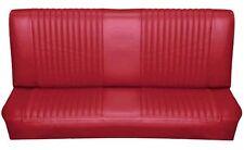 65 Falcon Futura 2 Door Sedan Rear Bench Seat Upholstery, Red