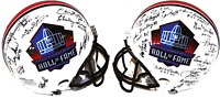 Hall of Fame Autographed / Signed Hall of Fame Helmet (25 Signatures)