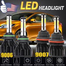 Combo 9007+9006 LED High Low Beam Headlight Fog Bulbs 6000K High Power 2 Pairs