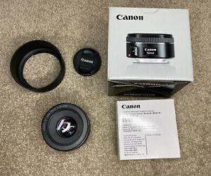 Canon EF 50mm f/1.8 STM Lens with ES-68 Lens Hood