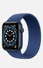 New Sealed Apple Watch Series 6 Blue 44mm GPS Wifi Blue Braided Solo Band Size 8