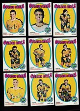1971 Topps Team SET Lot of 9 California GOLDEN SEALS EX/MT VADNAIS HICKE