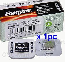 1 pedazo x Energizer 395 SR927SW Óxido de plata Pilas GRATIS POSTE Made in USA