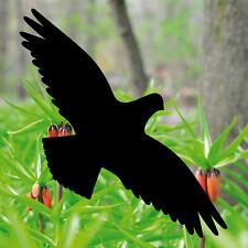 4 Aufkleber 30cm schwarz Habicht Vogel Fensterfolie Tattoo Warnvögel Vogelschutz