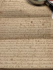 1789 Land Deed  Indenture 3 Pages In Franklin Twp Somerset Co. New Jersey