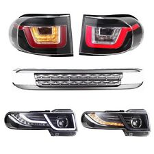 2016 LED Headlights and Tail Lights (W/ Grille) For 2007-2014 Toyota FJ Cruiser
