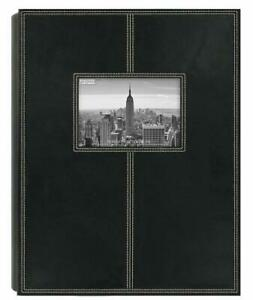 """Pioneer Photo Albums 4x6"""" 300 Pocket Sewn Leatherette Frame Cover 5PS-300 Black"""