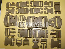 32 piece NEW ILBE Buckle Repair Set Kit FASTEX NEXUS DCU Desert TAN Coyote MOLLE