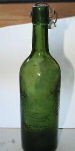 um 1920 (?) Bierflasche, 1 l, REIMS, Brasserie dux xieme Siegle, Frankfeich
