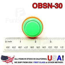 Sanwa Denshi Original OBSN-30 GREEN Push Button Screw Type secure JAMMA