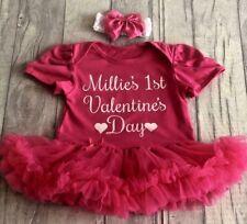 PERSONALISED 1st VALENTINE'S DAY Tutu Romper BABY GIRL Newborn Princess GIFT