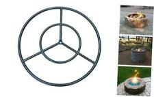 New listing Onlyfire 24 Inches Black Steel Round Fire Pit Burner Ring, Double Ring 24-Inch
