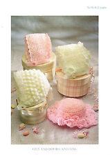 Baby girls crochet bonnets and hat dk crochet Pattern 0 -2 yrs 163 99p