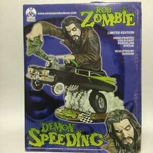 Very Rare. Simian Production ROB ZOMBIE Demon Speeding Statue. Only 800 Made