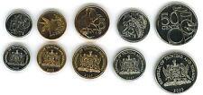 TRINIDAD AND TOBAGO: 5 PIECE UNCIRCULATED  SET, $0.01 TO $0.50