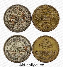 LIBAN, 2 Monnaies 1952. République Libanaise. Argent, bronze