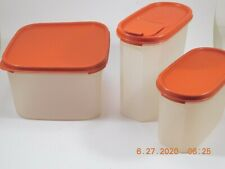 3 --Tupperware Containers Red Top & Clear Bottom  11-Cups, 7-1/4 Cup, 4-3/4 Cup,