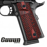 Guuun G10 Grips for Full Size Government 1911 Big Scoop Diamond Cut Texture