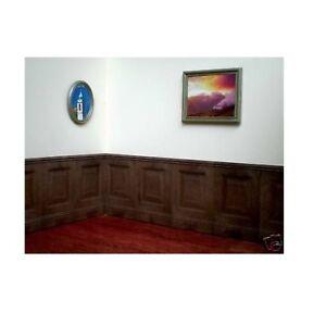 Proops 10 x 1/12th Scale Dark Oak Dolls House Raised Fielded Panels. A1005