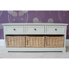 Practical Gloucester 3 Drawer With 3 Basket Storage Bench