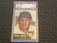 1953 Topps #111 Hank Sauer Chicago Cubs PSA 5.5