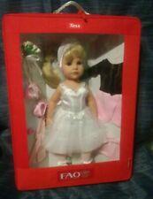 "TESS - 2010 FAO Schwarz Classic 19"" full VINYL Doll Blonde Blue Eyes GOTZ"