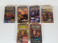 Star Trek Voyager 6 Paperback Book Lot