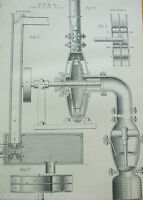 ANTIQUE PRINT C1880'S PUMP CENTRIFUGAL PUMP APPOLD'S GWYNNE'S ENGRAVING ETCHING