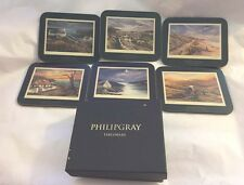 Jason PHILIP GRAY Thoughts of Home Art for Dining Coasters Set of 6 New in Box