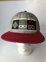 Nintendo Classic NES Controller - Snapback Hat, Gray and Red One Size Adjustable