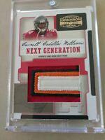 "06 Carnell ""Cadillac"" Williams Donruss Gridiron Nxt Generation 4 CL Jersey 15/15"