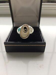 925 silver ring size S unusual design