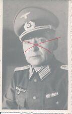 Nr.11835 Porträt Foto PK  Deutscher Offizier Ordensspange Österreich Schirmmütze