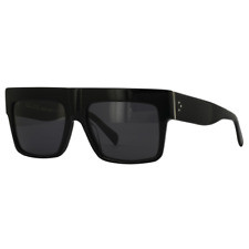 Celine ZZ-Top Sunglasses Black Frame Grey Polarized Lens CL41756/S 807 3H